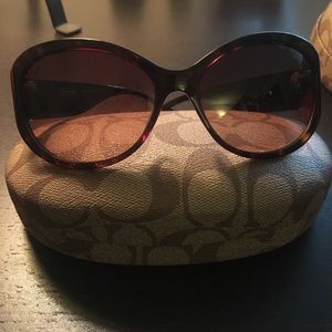 Coach Accessories - Coach brown sunglasses