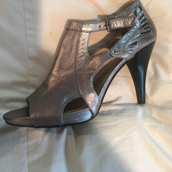 8b7a34fcff Silver metallic Nine West 3 inch heels. Nine West.  M_5925f6786a5830815900588b. M_5925f6797fab3a770a00563c.  M_5925f67b4e8d1784950050a5