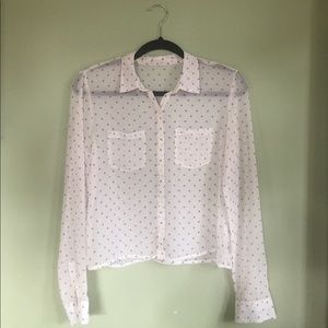 Sheer vintage button-down