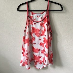 Tops - Silk Camisole (with red lips)