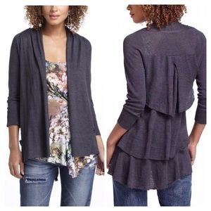 Anthropologie Sweaters - Anthropologie Tiered Ruffle Cardigan