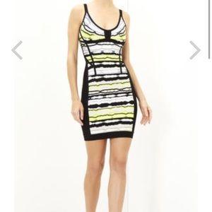 Herve Leger Dresses & Skirts - NWT Herve LEGER electric lime jacquard dress