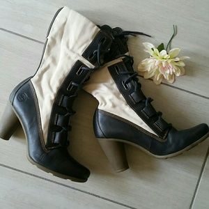 Timberland Shoes - Timberland high heel lace up combat boots.