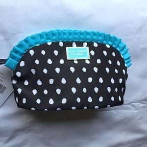 Betsey Johnson Handbags - Betsey Johnson Large Ruffle Cosmetic Bag
