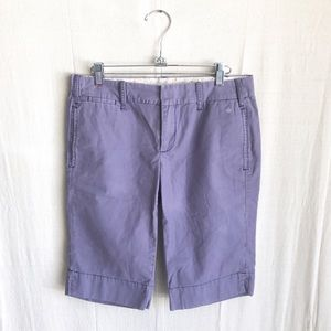 Anthropologie G1 Paper Twill Purple Shorts