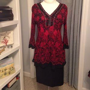 Dress Barn Embellished Dressy Tunic Top