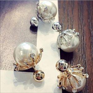 Jewelry - Big Pearl Silver Studs