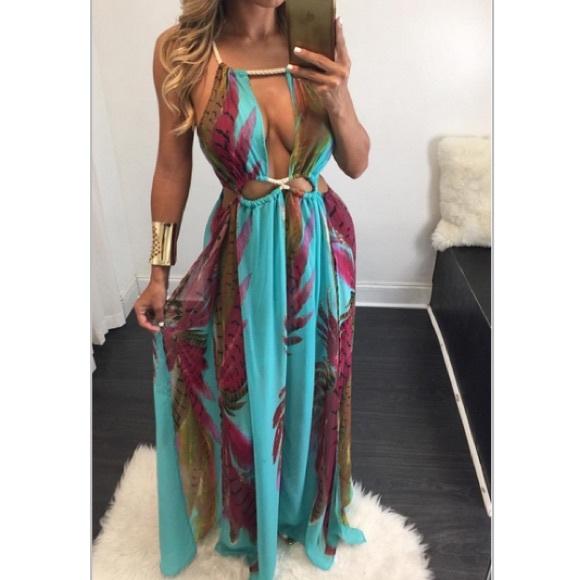 "Fashion Nova Beauty Queen Maxi Dress: 🎉HP🎉 ""Summer Love"" Chiffon Maxi Dress From"