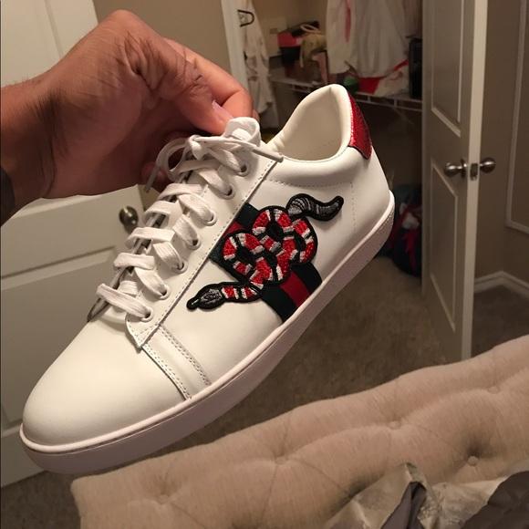 Men Gucci Snake Ninfa Sneakers Size 11