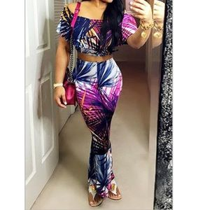 "Fashion Nova Pants - ""Love Line"" tropical two piece set"