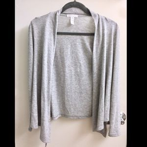 Ambiance Apparel Sweaters - ⭐️ Light Heather Grey Draped Cardigan