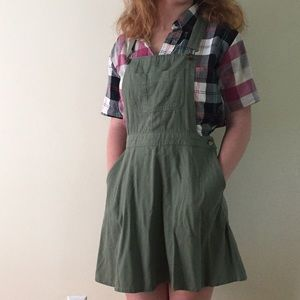Army Green Overall Dress