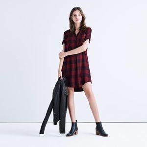 Madewell Dresses & Skirts - [Madewell]shirtdress - burgundy buffalo check