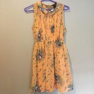 Fire Los Angeles Dresses & Skirts - Preppy Orange Skull Dress