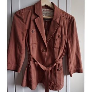 Anthropologie Jackets & Blazers - Anthropologie Cartonnier Rust Colored Jacket