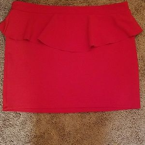 Xhilaration Dresses & Skirts - Red peplum mini skirt