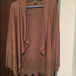 krazy Kat Sweaters - NWOT Krazy Kat suede cardigan XL