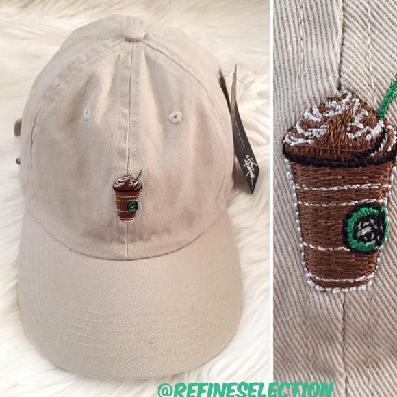 fd0e9d1386b Starbucks Frappuccino Khaki Strapback Dad Hat Cap