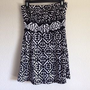 WHBM Strapless Mini Dress
