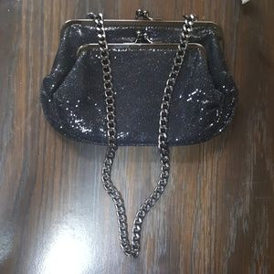 Black Express evening bag