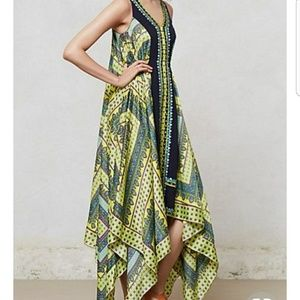 Anthropologie asymmetrical dress