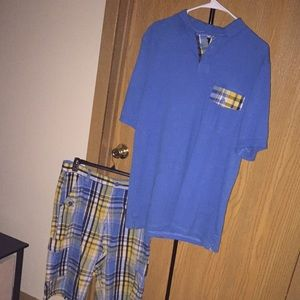 👕 Plaid polo shirt & short combination 👖