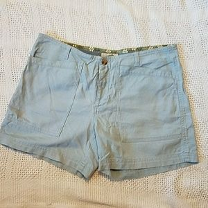 Horny Toad Pants - Horny Toad linen cotton blend baby blue shorts