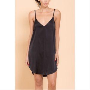 Other - Restocked Classic Black Satin Slip Dress