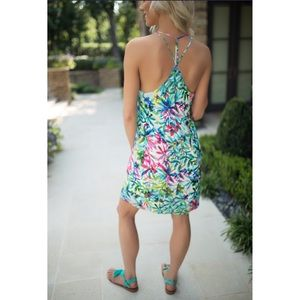 Charlie Jade Dresses & Skirts - 🆕 Charlie Jade Turquoise Floral Silk Slip Dress