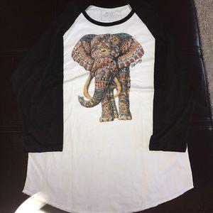 riot society Tops - Riot society quarter sleeve w/ elephant tee