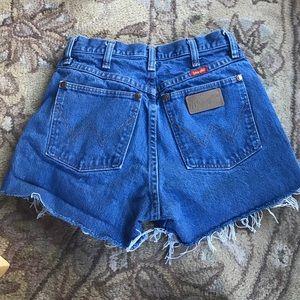 Wrangler Pants - Vintage wrangler denim shorts