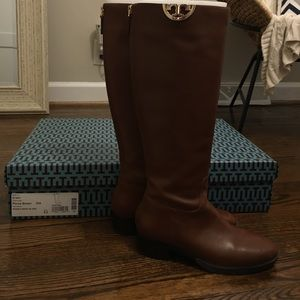 Tory Burch Shoes - Tory Burch Penny brown Sidney Boot