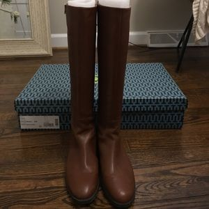6f8a74ea125 Tory Burch Shoes - Tory Burch Penny brown Sidney Boot