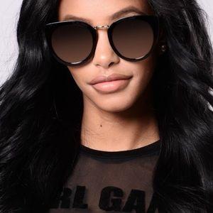 Fashion Nova Accessories - Black/Rose Sunglasses
