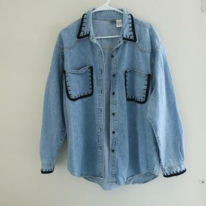Vintage oversized denim button up