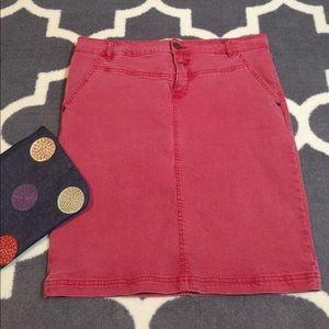 Anthropologie Dresses & Skirts - Holding Horses red faded denim skirt