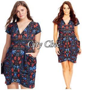 City Chic Dresses & Skirts - City Chic Folk Print Tunic Sz 16