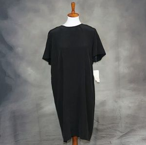 NWT Liz Claiborne black silk dress LP