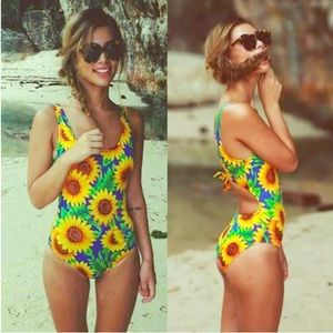 American Apparel Other - 🌻AMERICAN APPAREL SUMMERY SUNFLOWER MONOKINI🌻
