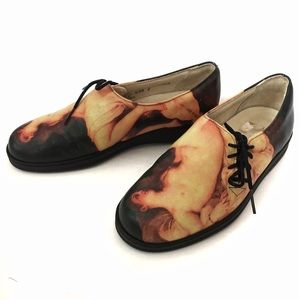 ICON Shoes - RARE! Icon Renaissance Painting LEATHER Oxfords
