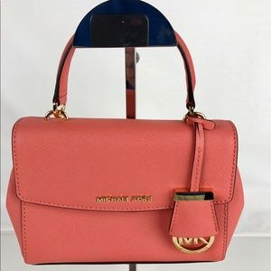 Michael Kors Handbags - Michael Kors Ava Small Saffiano Leather Satchel