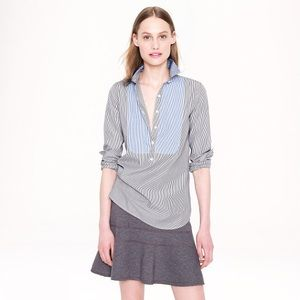 J. Crew Bib Popover Shirt in Stripe