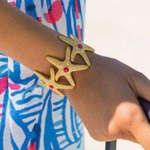 Lilly Pulitzer Jewelry - NWT Lilly Pulitzer Gold Starfish Bracelet