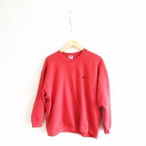Nike Tops - Vintage Nike Red Crewneck Sweatshirt