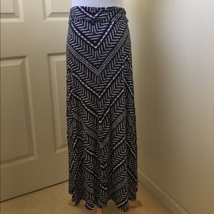 Loveappella Dresses & Skirts - Navy and white maxi skirt