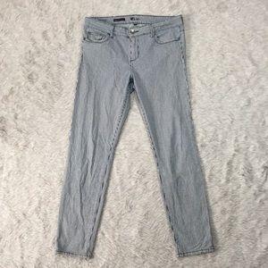 Kut from the Kloth Denim - KFTK Brigitte skinny roll up railroad stripe jeans
