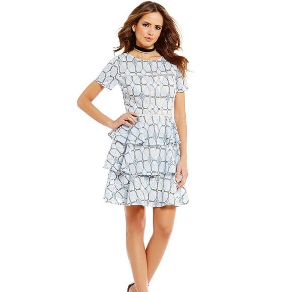 49bcb926c03 Gianni Bini Dresses   Skirts - Gianni Bini Monique Short Sleeve Lace Ruffle  Dress