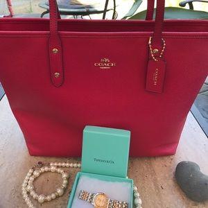 Coach Handbags - Bright Pink Coach Tote💖💖💗💗