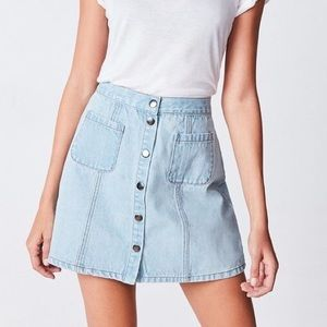 Urban Outfitters Dresses & Skirts - UO Button front jean skirt! ON SITE RN