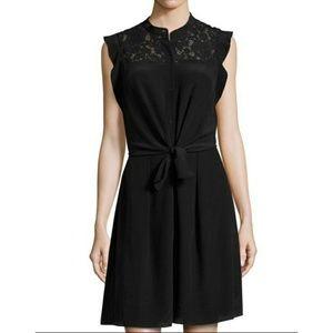 Rebecca Taylor Silk & Lace Shirt Dress